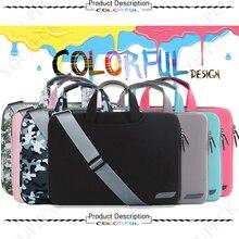 Cartinoe Мягкая сумка для ноутбука чехол для Macbook Air 11 12 13 14 15 15,6 дюймов сумка мессенджер ручка для переноски защитная сумка