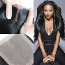 Free/ hidden knots middle silk part grade base peruvian straight closure