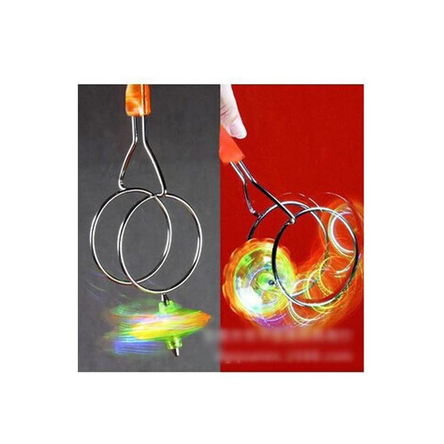 Pista Magnética Giroscopio Mágico Colorido Luminoso Juguetes Magia Fly Gyro Niños Juguetes Luminosos Adoptar TecnologíA Avanzada