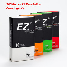 200 Pcs Mixed Lot EZ Revolution Cartridge Tattoo Needles RL RS M1 CM compatible with System Machines Grips