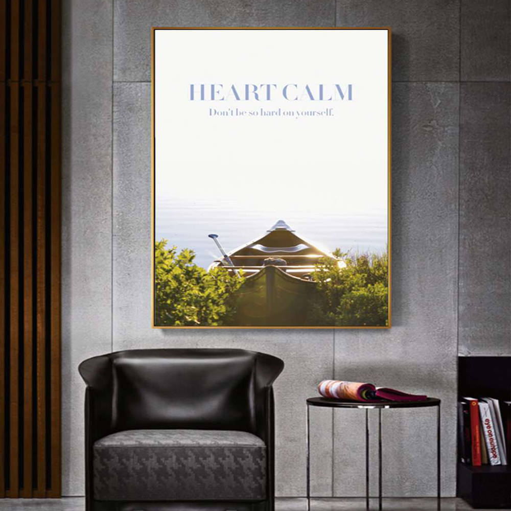 Unframed Canvas Prints Heart Calm Poster Giclee Wall Decor Prints Wall Picture For Living Room Wall Art Decoration Dropshipping
