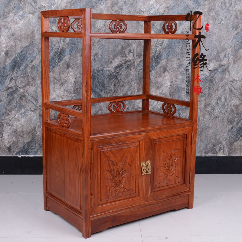 Mahogany tea cabinet, microwave oven cabinet, rosewood dining counter, small tea table, Chinese solid wood furniture, tea cabine shipping mahogany small tea table rosewood wood tea table with tea tea taiwan mobile wheel car frame tea tea