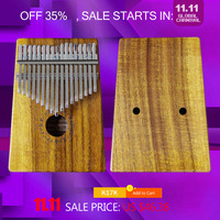 Gecko 17 Key Kalimba African Thumb Piano Finger Percussion Keyboard Kids Marimba Wood Multi Model Selection