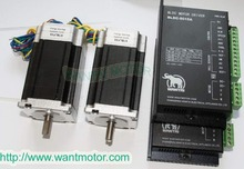 цена на 2 Axis 57BLF03 Brushless DC Motor 188W,24VDC,3000RPM rated speed& Driver CNC Kit BLDC-8015A,80VDC,