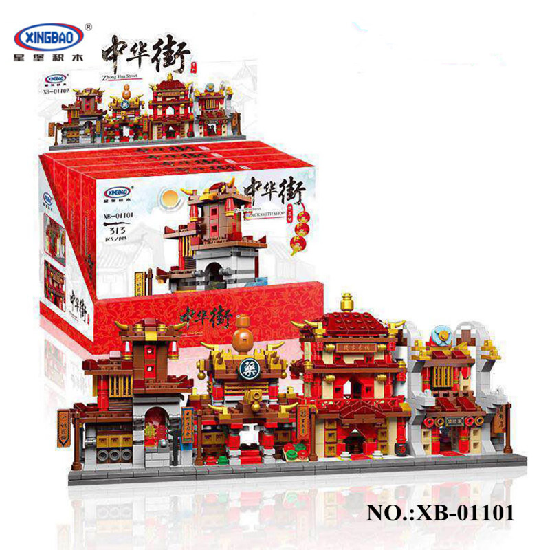 IN-STOCK New Xingbao 01101 the creative MOC Chinese architecture Series Children Educational Building Blocks Bricks Toys Model стоимость