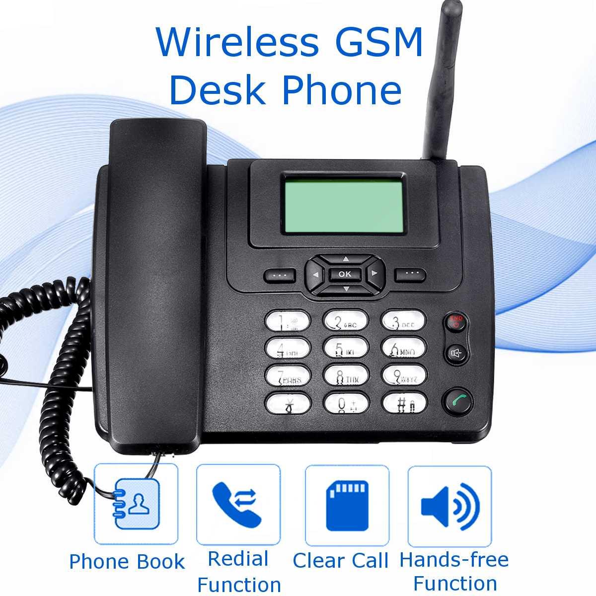 Wireless GSM Desk Mobile Phone SIM Card Desktop TNC Antenna Interface