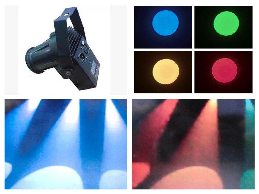 2 pcs/lot, 10 W RGBW LED broches Spot lumière DMX KTV Bar fête LED boule de cristal lumière Disco dj