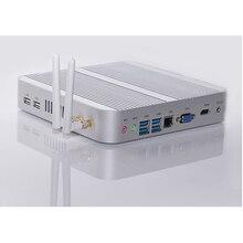 EGLOBAL 12V Desktop Computer i7 5550U Fanless Mini PC Windows 10 i7 Micro Office Computer HDMI VGA 4k TV Box Barenone Pc