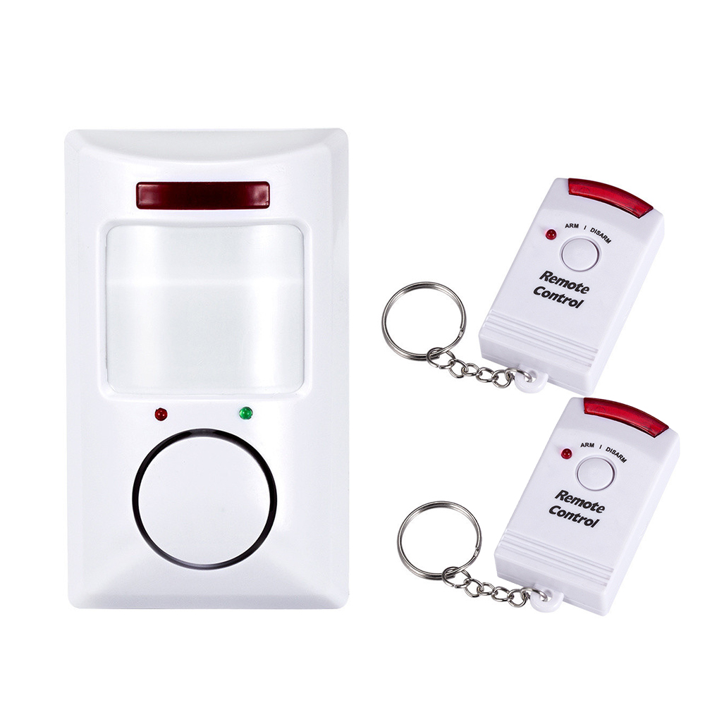 Wireless Motion Detector High Quality Infrared Sensor Dual Remote Infrared Alarm Home Safety Wireless Infrared Home Alarm System