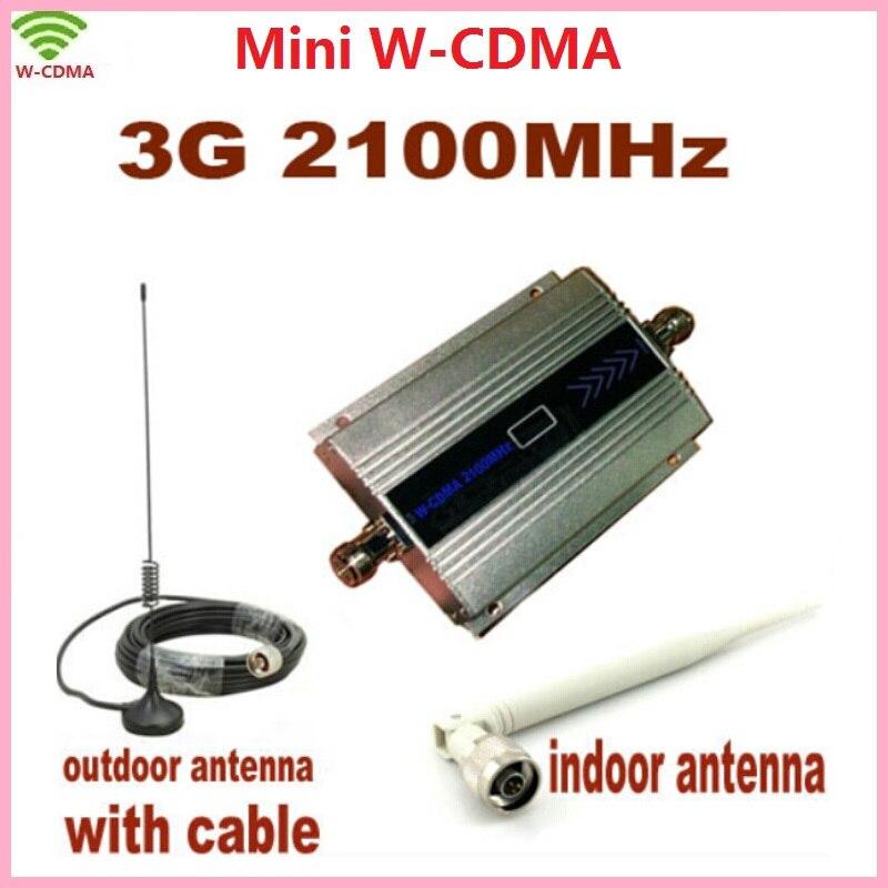 LCD Família 3g WCDMA UMTS 2100 mhz Mobile Phone Signal Booster Repeater 3g Amplificador de Sinal de Telefone Celular Repetidor com Antena