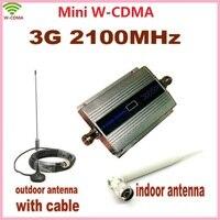 LCD Gia Đình WCDMA UMTS 3 Gam 2100 MHz Điện Thoại Di Động Tín Hiệu Booster Repeater 3 Gam GSM Repetidor Điện Thoại Di Động Signal khuếch đại với Antenna