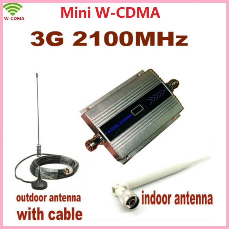 ZQTMAX 3G Mobile Phone Signal Booster WCDMA Repeater UMTS Cellular Signal Amplifier With Antenna
