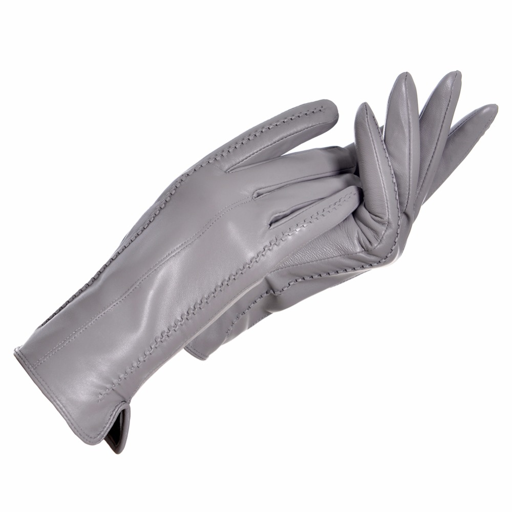 Womens black leather gloves australia - Ycfur Genuine Leather Gloves Women Warm Lady Genuine Sheepskin Gloves Warm Lining Winter Female Gloves Leather