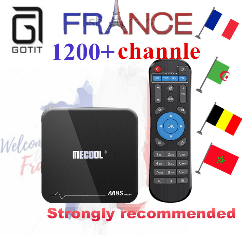 GOTiT M8S Pro+ Android 7.1 Smart TV Box +1200+French IPTV NEOPlus Pro Arabic Belgium Tunisia Morocco better than QHDTV LEADTV аксессуар panasonic сетка и режущий блокдля бритв wes9015y1361