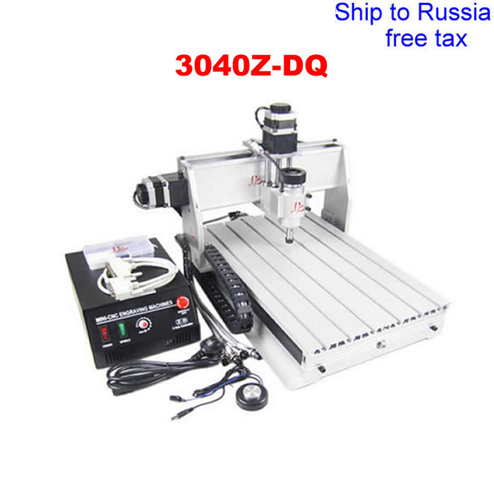 3040Z-DQ 3 axis CNC drilling machine with tool auto-checking instrument and ball screw can add the 4th axis to Russia free tax