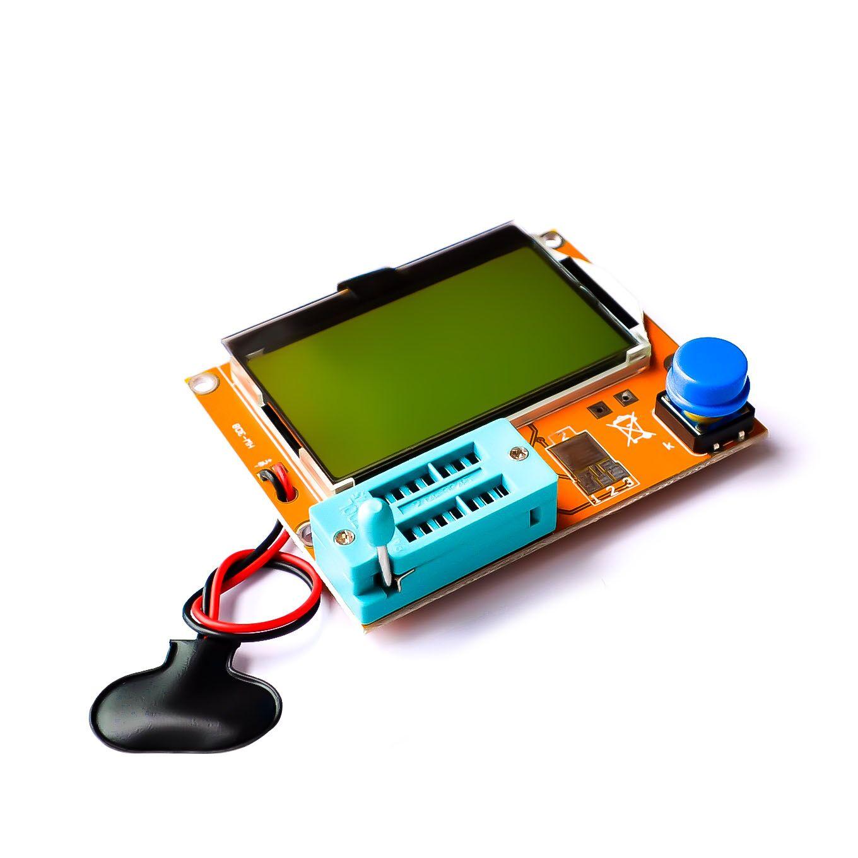 Mega328 M328 LCR-T4 ESR Meter LCR led Transistor Tester de triodo capacitancia MOS PNP/NPN