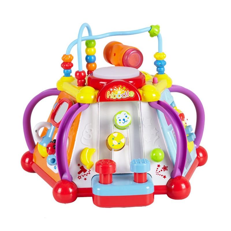 Bébé Jouet Musical Instrument Activité Cube Jouer Center Avec Des Lumières, 15 fonctions et Compétences Apprentissage et Jouets Éducatifs Pour Enfant L790
