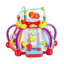 Baby Toy font b Musical b font Instrument Activity Cube Play Center With Lights 15 Functions