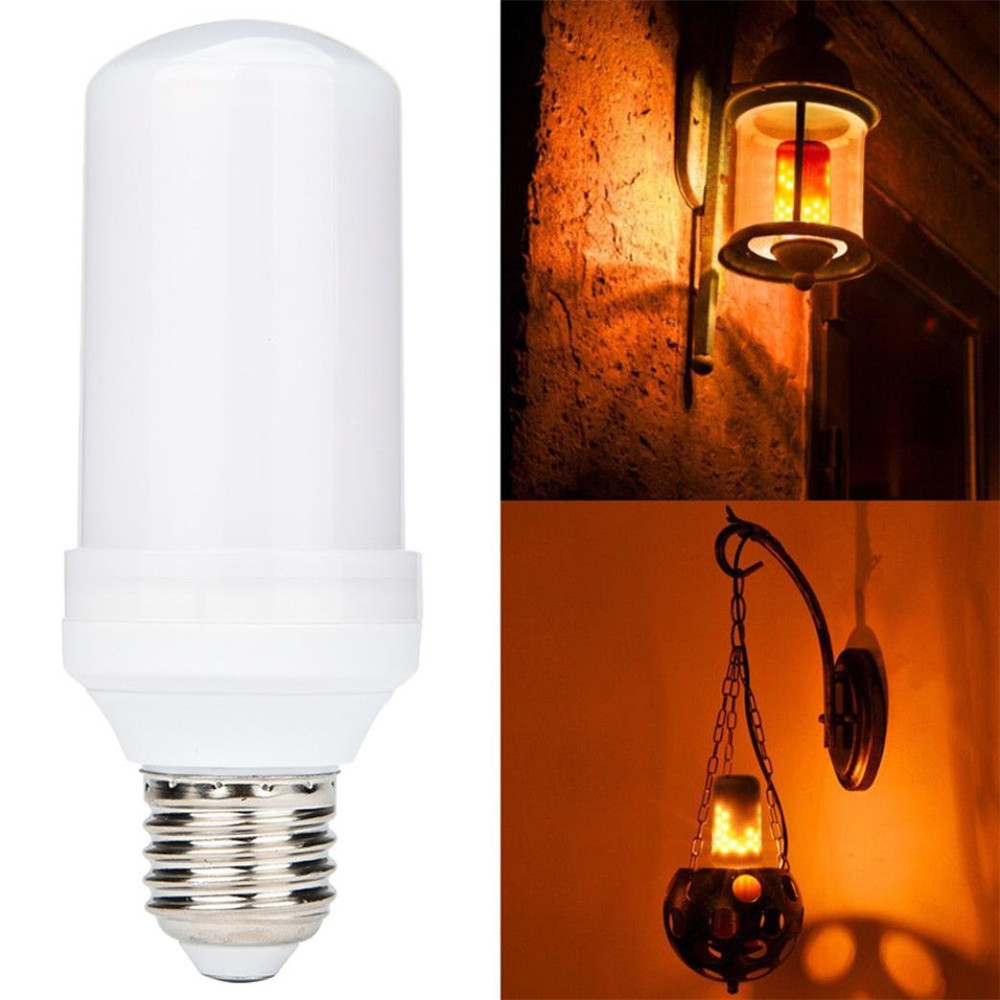 New! LED Flame Fire Light Bulb, LED Beads Simulated Decorative Light Vintage Flaming Light For Bar/ Festival Decoration