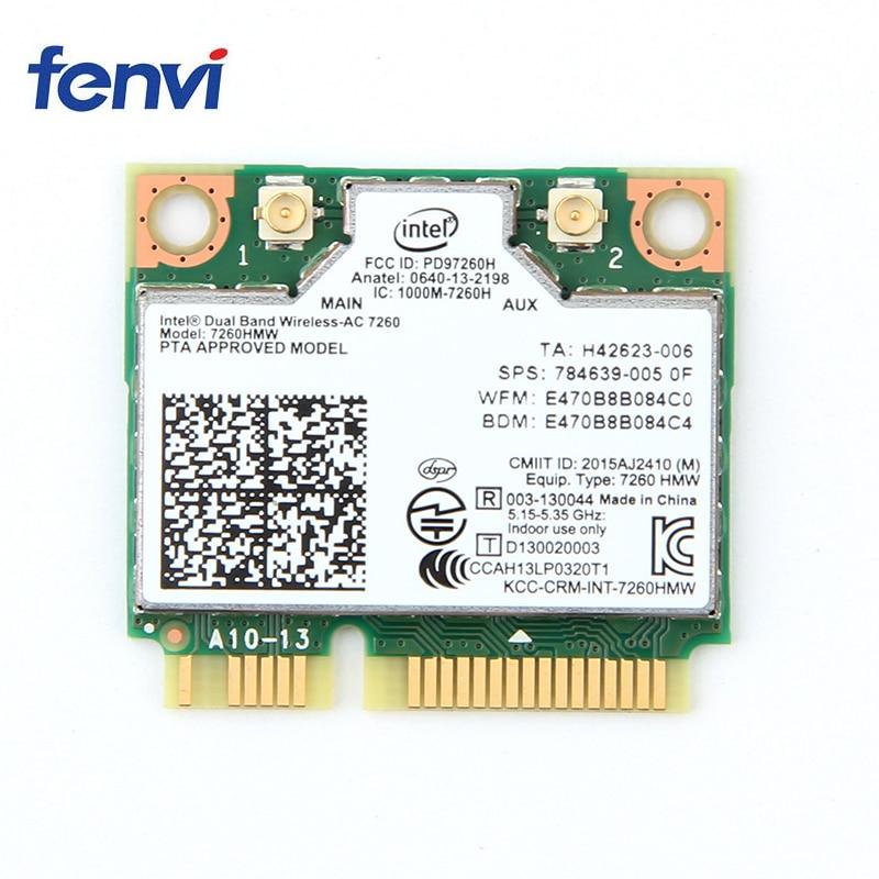 Dual-Band 2.4//5G 433Mbps Bluetooth 4.2 Wireless Wifi Network Card Mini PCI-E
