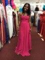 Sweetheart Chiffon Long Bridesmaid Dresses Floor length Fuchsia Wedding Party Gown robe demoiselle d'honneur Bridesmaid Dress