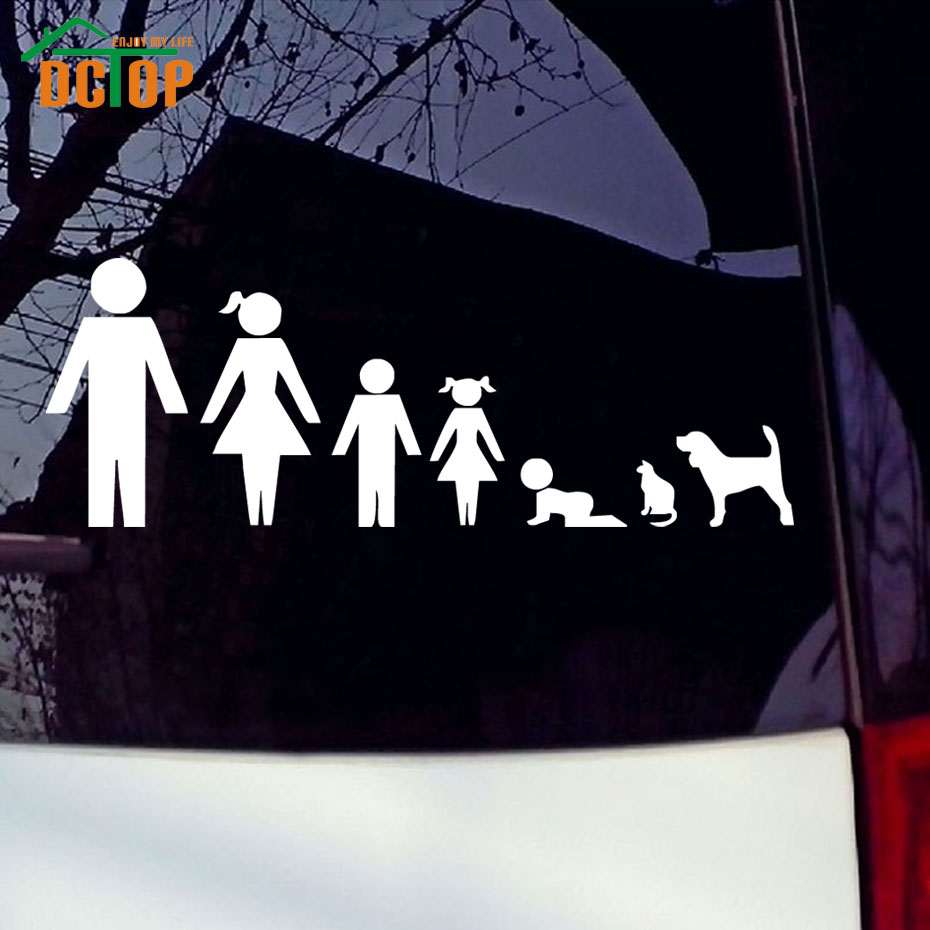 Car sticker design family - Alternative Family Decal Car Stickers Images Decorative Vinyl Adhesive Auto Decals Window Glue Stickers Car Styling