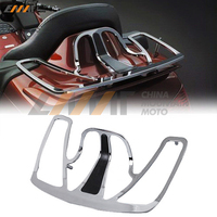 Chrome Motorcycle Trunk Luggage Rack Goldwing Aluminum case for Honda GoldWing GL1800 2001 2011