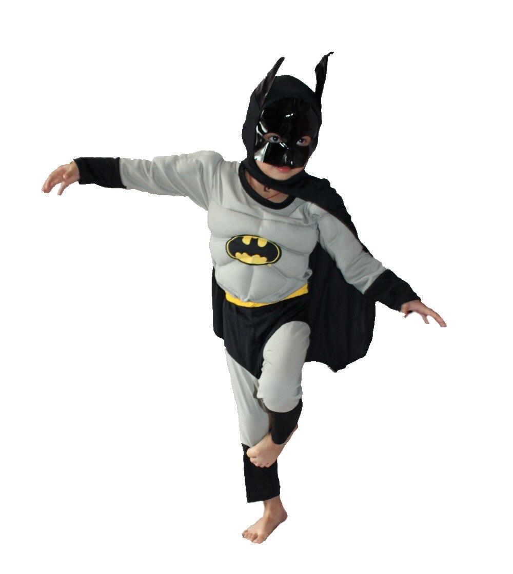 Boz 3-7 il Əyləncə Uşaqları Komik Marvel Batman Muscle Halloween - Karnaval kostyumlar - Fotoqrafiya 3