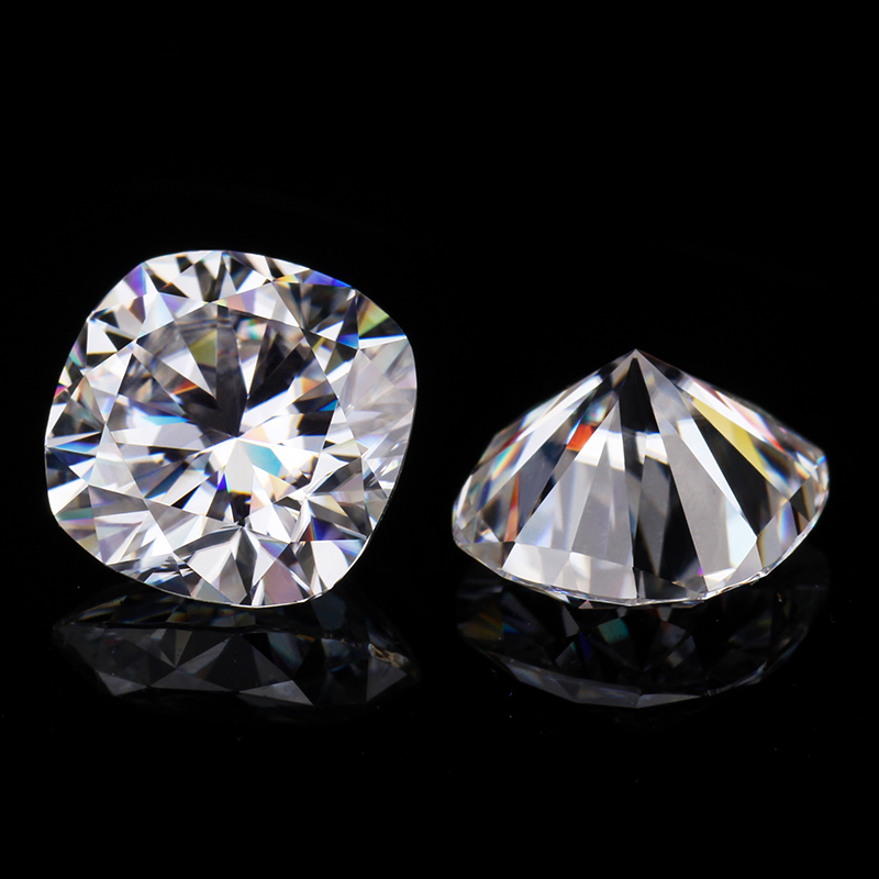 pretty cushion shape EF 6.5*6.5mm loose lab created moissanites diamonds jewelry gems image