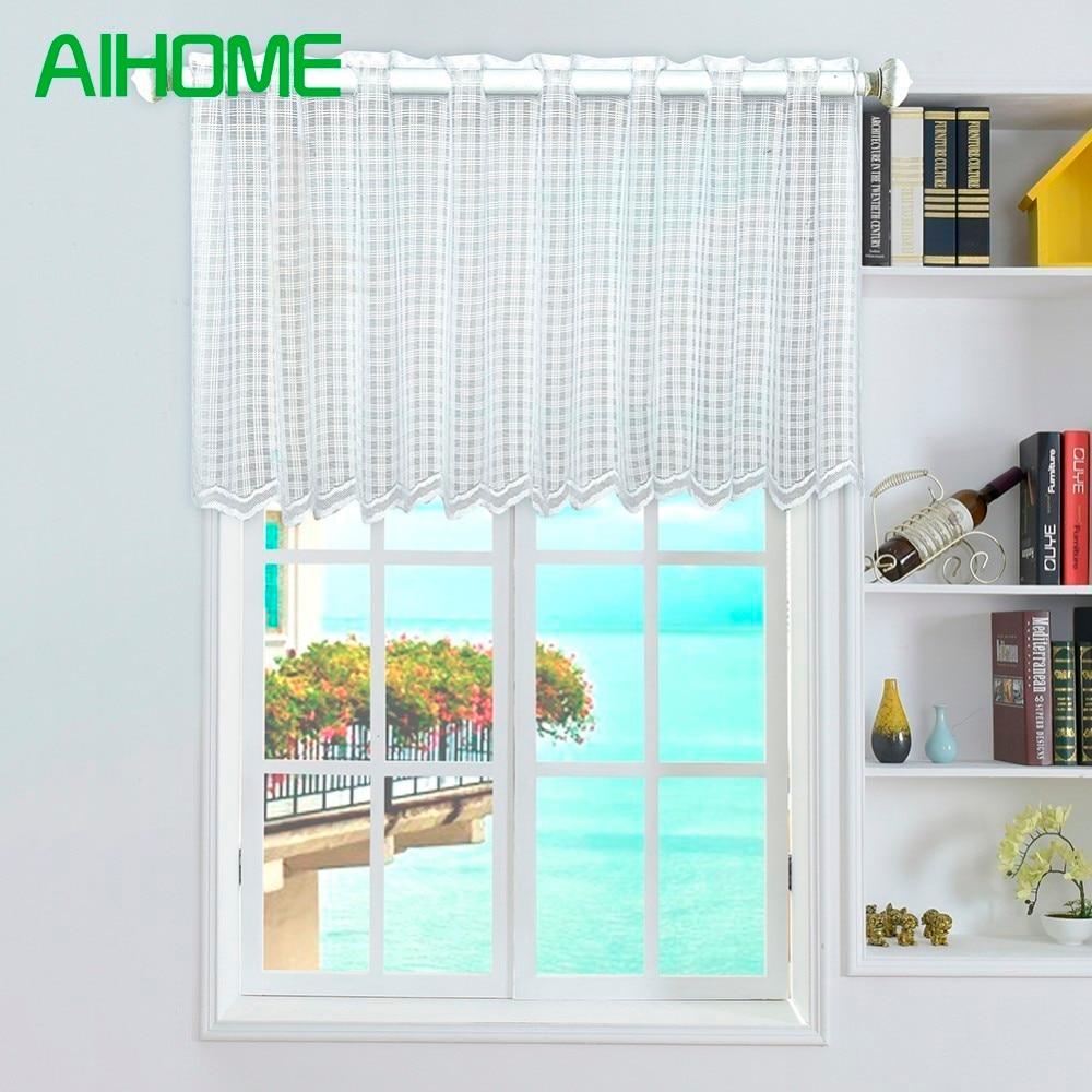45*150 Cm Kitchen Balcony Home Window Valance Tulle Curtain Panel ...