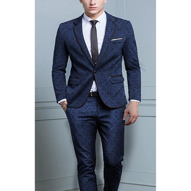 2 unidades trajes británicos últimas Pantalones pantalones traje para hombre  Otoño Invierno grueso Slim Fit Plaid 8721eecd651
