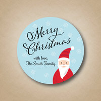 Christmas Personalized printing labels Happy New Year custom stickers Wedding Stickers printed LOGO Xmas round label Gift Tag