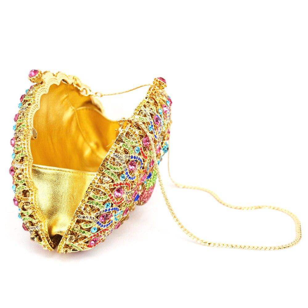 cbaeb02033 LaiSC Luxury Crystal Evening Bag Peacock Clutch diamond party purse  pochette soiree Women evening handbag wedding clutch bag 049