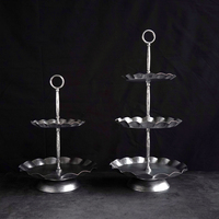 2 tiers/3 tiers cake stand silver high quality wedding party supplies