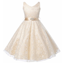 Girls Dresses Princess Party Lace Dress Toddler Kids Clothes Girls Sleeveless Elegant Birthday Clothing