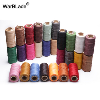 260m 1mm Waxed Cord Polyester Cotton Leather Thread Sewing Threads For Shoes Luggage Bracelet Jewelry Making Accessories - discount item  41% OFF Jewelry Making