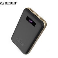 ORICO 12500mAh Type C Power Bank Dual USB Battery LCD External Battery Portable Mobile Fast Charger