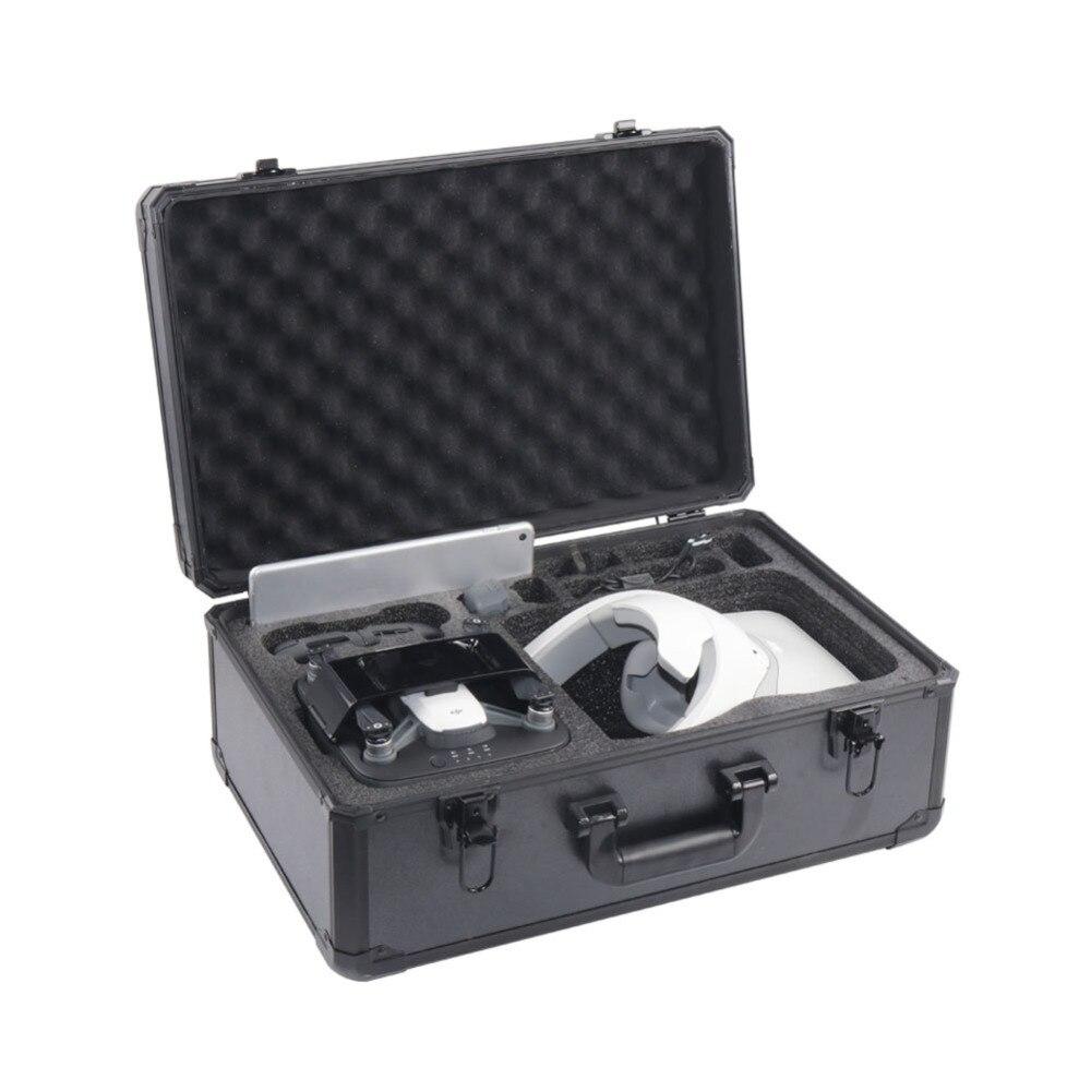 YAGO spark mobile charging box + VR glasses aluminum box (package models) dji drone vr glasses professional handbag dji spark drone suitcase case box vr goggle glasses accessories storage backpack