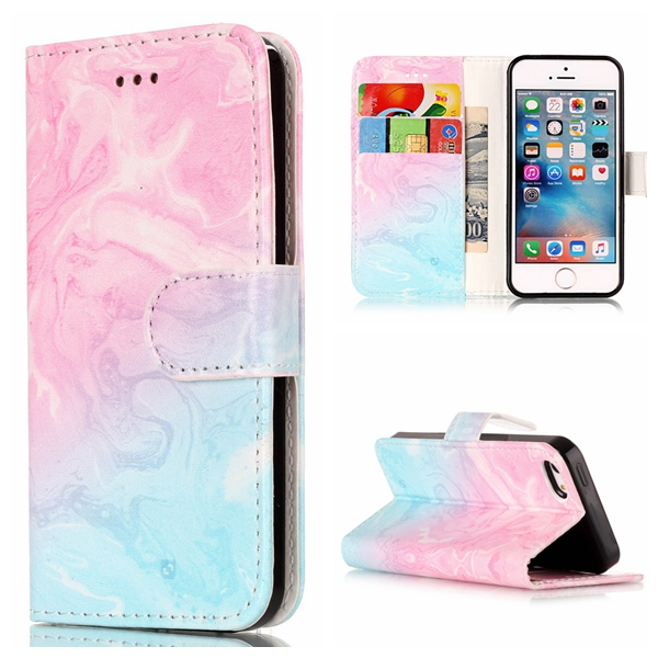 online store 65120 30e74 US $4.72 |Cute Marble Wallet Leather Case For Apple iPhone 5S 5 SE Luxury  Flip Coque Phone Bag Cover For iPhone 5s Cases Fundas VALK Brand-in Flip ...