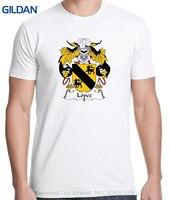 GILDAN Marca de Buena Calidad Camisa de Algodón Fresco Del Estilo Del Verano Camisas Lopez Escudo De Armas de Los Hombres T-shirt
