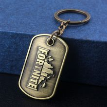 SG Hot New Games Fortnite #1 Victory Royale Keychains High Quality BF4 Battlefield 4 Keyring Antique Bronze Pendants Jewelry