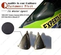 Acessórios do carro de fibra de carbono wrc estilo maual espelho lateral apto para 1993 2001 subaru impreza wrx sti gc8 gf8 espelhos laterais|side mirror|side car mirror|carbon fiber mirror -