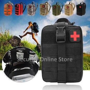 กลางแจ้งยุทธวิธีกระเป๋าเดินทาง First Aid Kit Multifunctional เอว Pack Camping Climbing Bag ฉุกเฉินกรณี Survival Kit