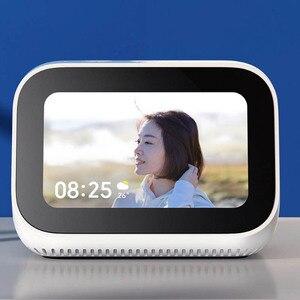 Image 4 - Originele Xiaomi AI Gezicht Touch Screen Bluetooth 5.0 Speaker Digitale Display Wekker WiFi Smart Connection met Video deurbel