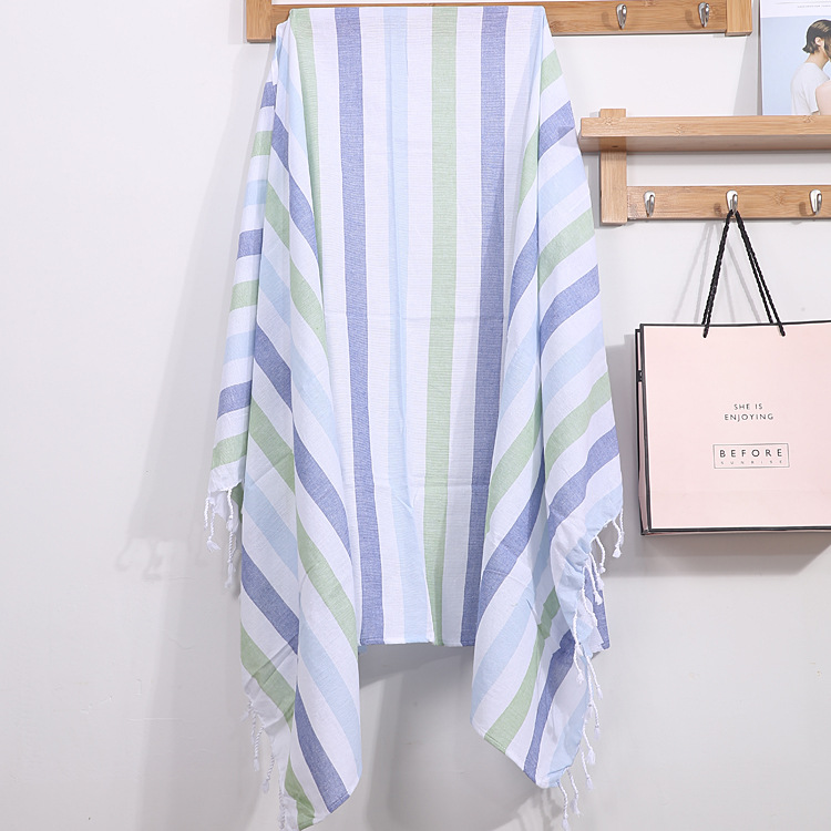 Turkish Beach Towels Cotton Striped Thin Children's Bath