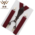 YOUWELL New Men's Business Casual Trousers Suspensorio Menino Boxed Strap 4 Clip Suspenders High-end Special Gifts For Male