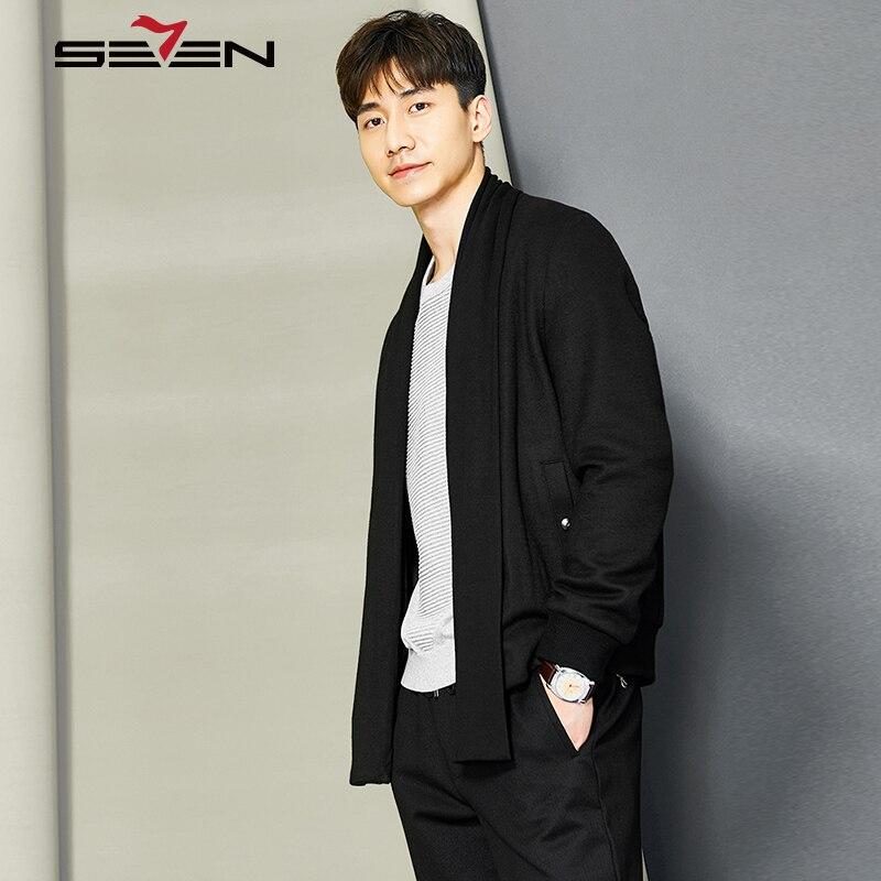 Winter 2019 Streetwear Seven7 amp; Jacke Tops Mode Marke Neue Casual Männer Koreanischen Herbst Blazer Ankunft Navy7 designer Männlichen Kleidung qCan6Cw5