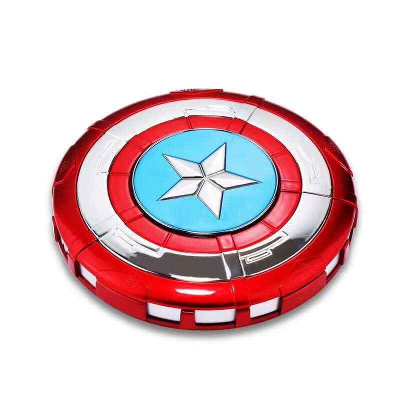 Marvel Power bank 8800mAh The Avengers Captain America Shield Iron Man Reactor Charge Mobile Power Supply Portable charger Gifts 32cm 2017 new avengers toys movie avengers alliance captain america shield cosplay costume led flashing sound kids toys gifts