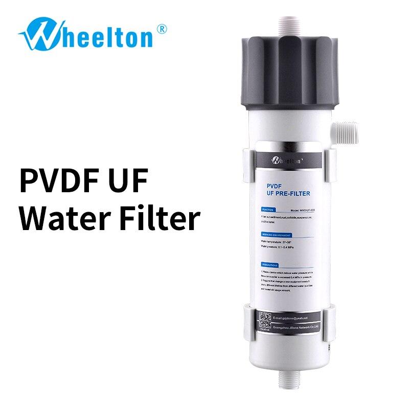 Wheelton UF filtro de agua Wholehouse pre-filtro extender la vida del aparato ósmosis inversa (RO) waterfilter Membrana de PVDF 600L/H