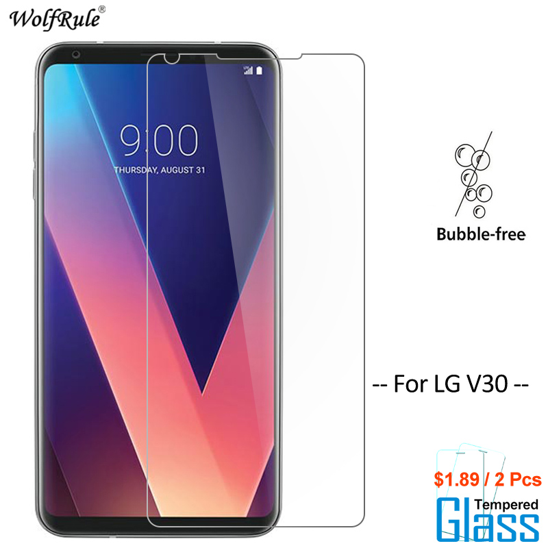 2PCS Screen Protector For Glass LG V30 Tempered Glass For LG V30 Glass Protective Phone Film For LG V30 WolfRule